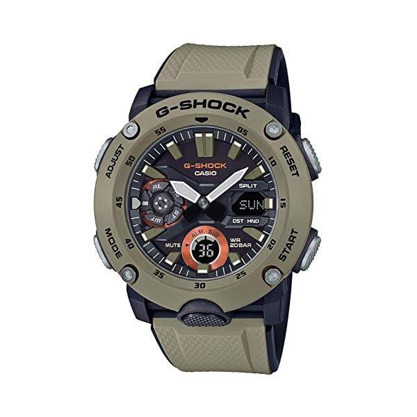 51pXhqCX2UL. SS600  - Men's Casio G-Shock Analog-Digital Carbon Core Guard Beige Resin Band Watch GA2000-5A
