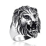 Retro Antique Style Lion Head King Fashion Titanium Steel Biker Ring Color Choice for Men