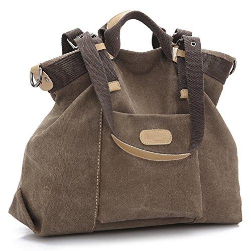 LOSMILE Totes Bags handbag large Hobo Blue Shoulder Coffee Bag Women's Canvas 4ZaqwW