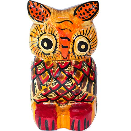 [Home Decor and Room Design Unique & Hand Carved Owl Wooden Sculpture from Guatemala] (Best Friend Costumes Ideas Diy)