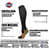 Graduated Medical Copper Compression Socks for Men