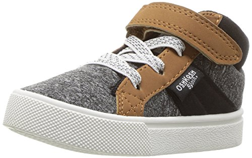 OshKosh B'Gosh Boys' Merle Sneaker, Grey, 7 M US Toddler