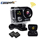 Campark Ultrathin 4k Wifi Waterproof Sports Action Camera Dual-screen,time Lapse,burst Photo,independent Apps for Ios and Android Action Cameras CAMPARK
