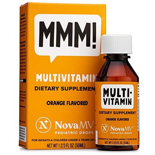 NovaFerrum - NovaMV Multivitamin for Infants and Toddlers - 50 mL - Vegan Verified, Natural Fruit Flavors, Natural Sweeteners, Sugar-Free, Gluten-Free.