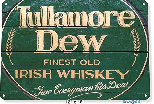 (OVCC Metal tin Sign 7.8inch11.8inches TIN Sign Tullamore Dew Irish Whiskey Store Brew Beer Liquor Shop Bar Pub A658)