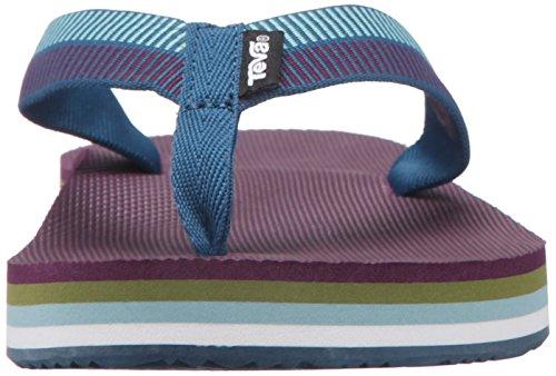 Teva Deckers, Flip-Flop para Mujer, Gris Azul (Ladder Moroccan Blue- Lmnbladder Moroccan Blue- Lmnb)