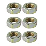 #4: Steel Jam Nuts, 5/8 Inch-18 Left Hand NF Fine Thread, Pack/6