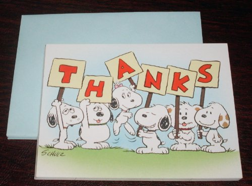 Vintage 1991 Hallmark Peanuts Baby Snoopy 4 Thank You Cards - Daisy Hill Farm Puppies - Baby Snoopy, Baby Belle, Baby Andy, Baby Marbles, Baby Olaf, Baby Spike 1991 Peanut