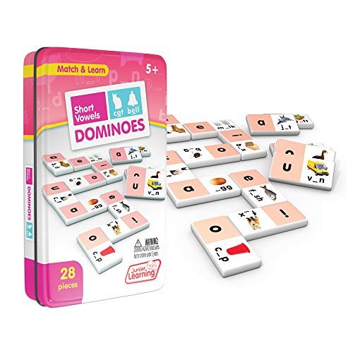 Junior Learning Short Vowel Dominoes Educational Action Games