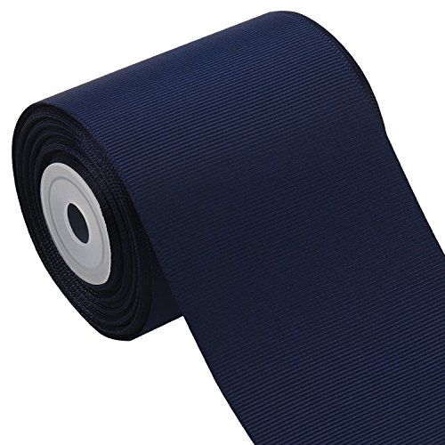 Laribbons 3 Inch Wide Solid Color Grosgrain Ribbon - 10 Yard/Spool (370 Navy Blue) ()