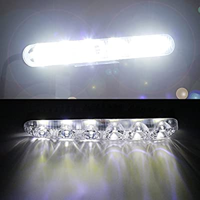 YIJINSHENG Auto 2PCS Fit 6 LED High Power LED Daytime Running Lights Driving Lamp Universal Fit LED Car Fog Light (White): Automotive