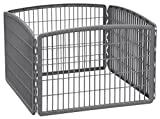 IRIS 24'' Exercise 4-Panel Pet Playpen Without Door, Dark Gray