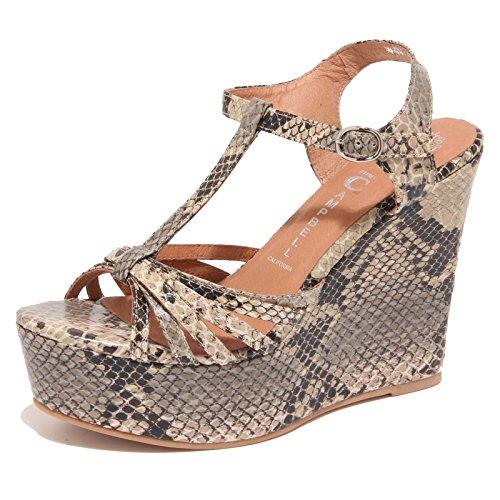 Jeffrey 6822O SWANSONG Donna Beige Nero Beige Woman Nero Shoe Sandalo Scarpe Campbell 7pqwrf7R