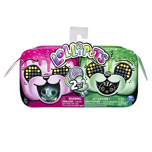 Lollipets, Two-Pack, Mini Interactive Collectible Pets with Candy-Shaped Accessory, for Ages 5 and Up (Style May Vary), Multicolor