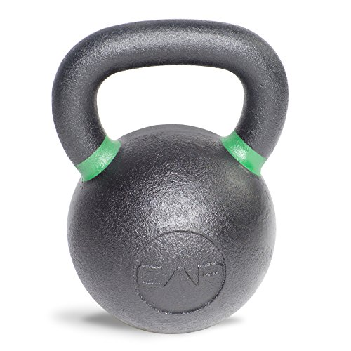 Cap Barbell Cast Iron Competition Weight Kettlebell, 53-Pound, Black/Green
