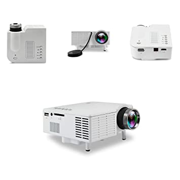 YAOkxin Proyector Mini portátil casa LED Soporte 1080P HD ...