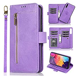 LCHULLE for iPhone Xr Wallet Case 2 in 1 [Magnetic Detachable] Flip Case PU Leather Card Slots Holder Kickstand Zipper…