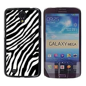 For Samsung Galaxy Mega 6.3 / i9200 / SGH-i527 , S-type® Black White Stripes Lines Africa - Arte & diseño plástico duro Fundas Cover Cubre Hard Case Cover