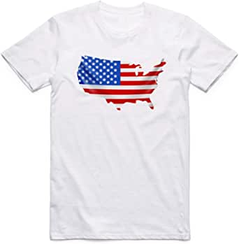 تيشيرت امريكا أبيض - للرجال