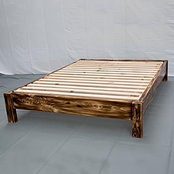 Amazon Com Torched Farmhouse Platform Bed King