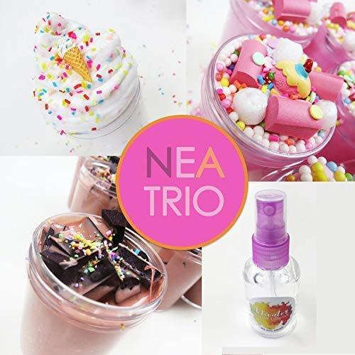 Plus FREE 2oz Activator Spray Neapolitan Slime Trio 3 x 4oz By Artistic Slimez
