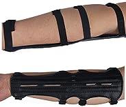 "Toparchery Ultra Light Archery Cow Leather Arm Guard Adjustable 4-Strap 12"""