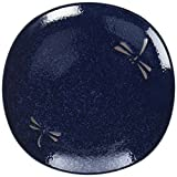 Happy Sales 4 Piece Dragonfly Blue Round Salad Plate Set, Blue