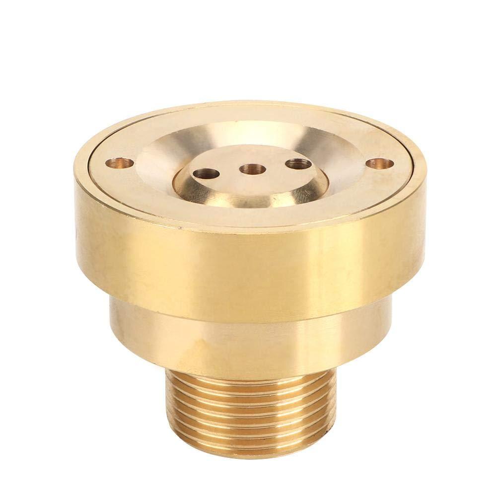 Bicaquu G1in 32mm Male Thread Brass Column Water Fountain Nozzle Spray Sprinkler Head Garden Nozzles