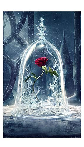 Mobicus Blxecky 5D DIY Diamond Painting ,By Number Kits Crafts & Sewing Cross Stitch,Wall stickers for living room decoration,rose(12X20inch/30X50CM)