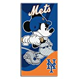 """Officially Licensed MLB New York Mets and Mickey Mouse Cobranded Windup Beach Towel, 28"""" x 58"""""""