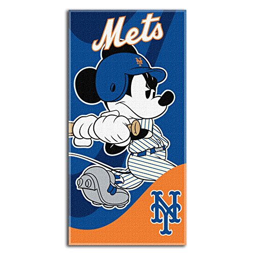 Officially Licensed MLB New York Mets and Mickey Mouse Cobranded Windup Beach Towel, 28
