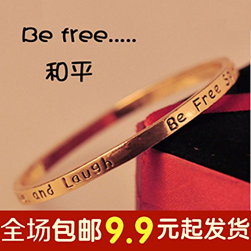 Ja and South Korea trend of personalized fashion metal bracelet couple models of men and women ring a rival fine jewelry gift bracelet