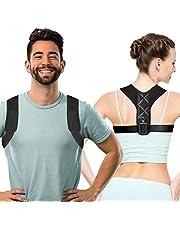 Aussiefascino Posture Corrector for Men and Women - Back Brace for Clavicle Support - Relives Neck & Shoulder Pain - Adjustable Shoulder Brace prevents Hunching Slouching