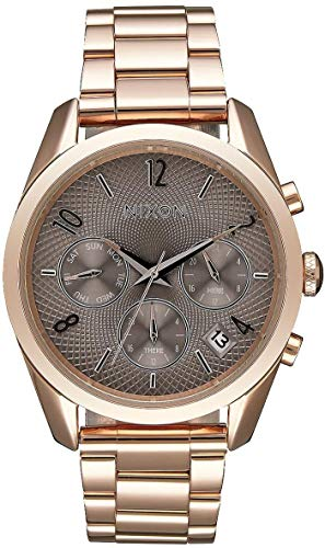 Nixon Womens The Bullet Chrono 36 Watch - Rose Gold/Taupe