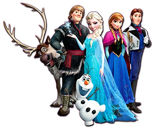 Frozen Characters Decor Decal 25in. Long 30in. Tall