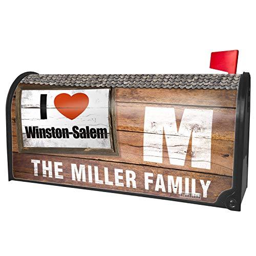 NEONBLOND Custom Mailbox Cover I Love Winston-Salem Region: North Carolina, United ()