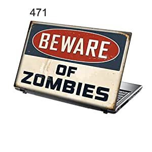 """TaylorHe Laptop Skin Pegatina de vinilo Adhesivo para portátiles 15,6"""" 15"""" (38cm x 25,5cm) Productos de Gran Bretaña nota divertida, zombis"""