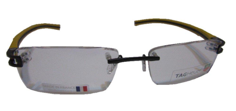 Tag Heuer Track S 7644 Eyeglasses 012 Black/ Black/Yellow