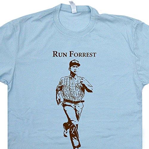 L - Run Forrest Running T Shirt Run Forest Gump Shirt 90s Movie Shirt Cool Vintage Gym Treadmill Spinning Shirt Movie Quote Shirts (Cool Movie Quotes)
