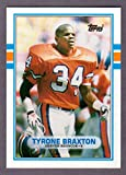 Tyrone Braxton 1989 Topps Traded Rookie Card (Broncos)