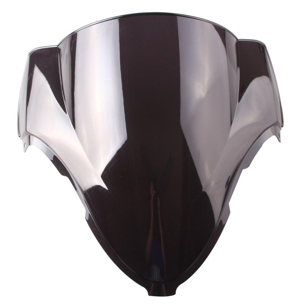 GZYF Black Double Bubble Windscreen Windshield Fit Suzuki Hayabusa GSX1300R 99-07