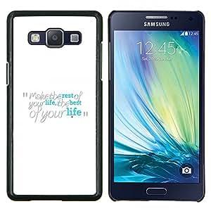TECHCASE---Cubierta de la caja de protección para la piel dura ** Samsung Galaxy A5 ( A5000 ) 2014 Version ** --Hacer lo mejor de su vida