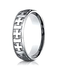 Benchmark® 6mm Comfort-fit Gaelic Cross Carved Design Band