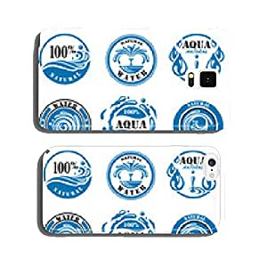 set of nine water labels cell phone cover case iPhone6