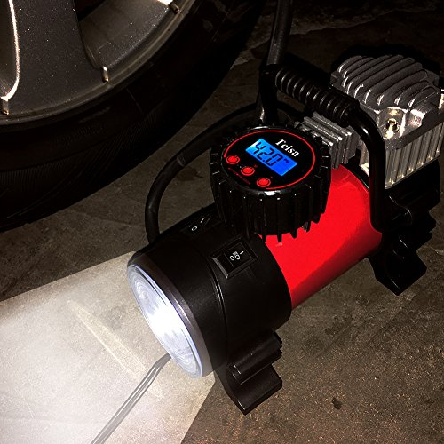 portable air compressor pump 150 psi tcisa 12v 140w auto digital car tire inflator gauge. Black Bedroom Furniture Sets. Home Design Ideas