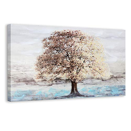 (Kas Home Art The Blooming Tree Abstract Wall Art Oil Paintings Giclee Landscape Canvas Prints for Living Room Bedroom Home Decorations Wall Decor (36 x 24 Inch,)