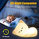 Kitty Night Light Cute Lamp with Tap Control,Cat