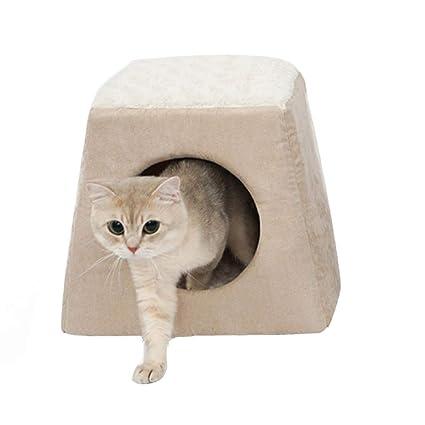 gouwo Cama para gatos saco de dormir para mascotas casa de gato cama para gatos extraíble