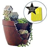 LightningStore Succulent Plants Pot Microlandschaft Personalized Office House Balcony Landscape Pot Creative Decorative Flower Pots + Mini Figures Bundle