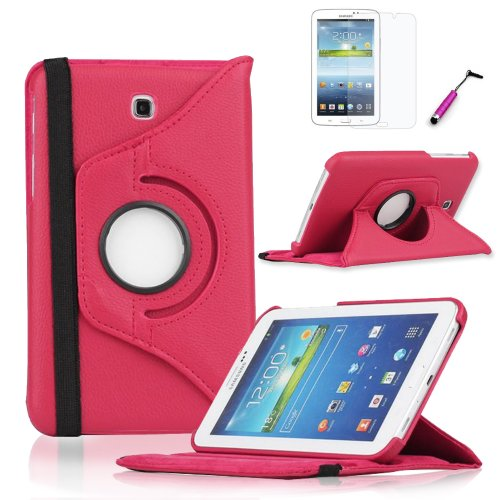 Classy Autos 360 Degree Rotating Case Cover For Samsung Galaxy Tab 3 7 7.0